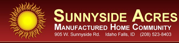 Sunnyside Acres Manufactured Home Community in Idaho Falls, Idaho